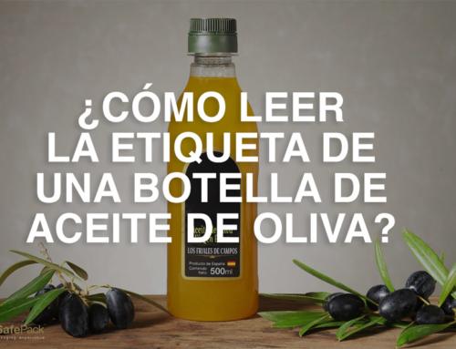¿Cómo leer la etiqueta de una botella de aceite de oliva?