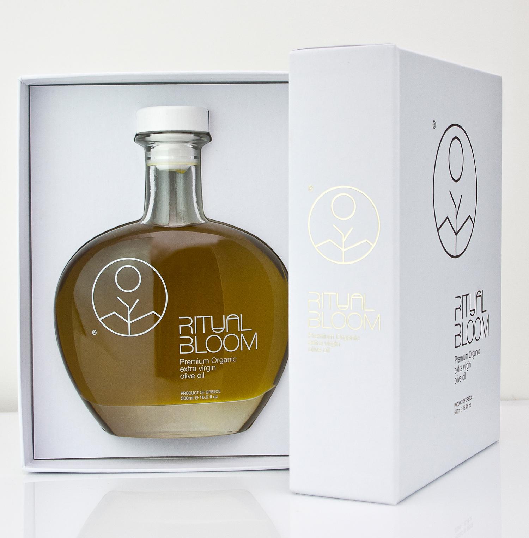 botella aceite de oliva medusa