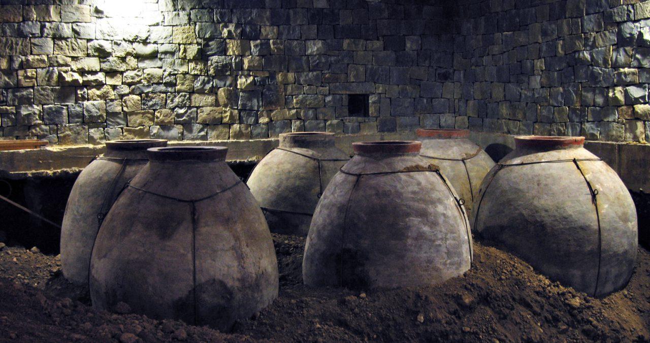 historia del vino anforas