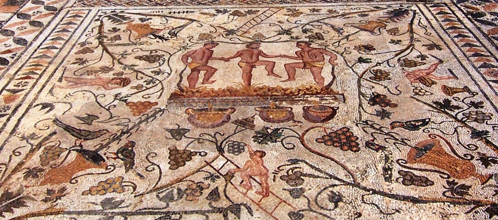 historia del vino romanos